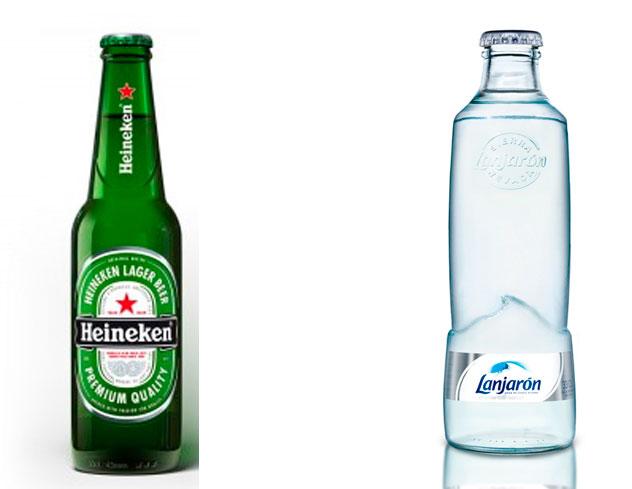 Heineken y lanjarón.